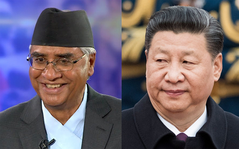 Prime Minister Sher Bahadur Deuba, President of the People's Republic of China, and General Secretary of the Communist Party of China, Xi Jinping, 19th National Congress of the Communist Party of China